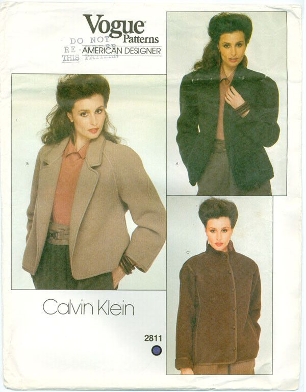 Vogue 2811 - American Designer - Misses' Jacket by Calvin Klein