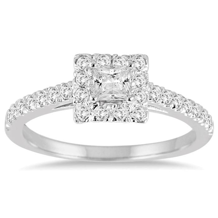 Michael Hill Engagement Rings Princess Cut White Gold 3