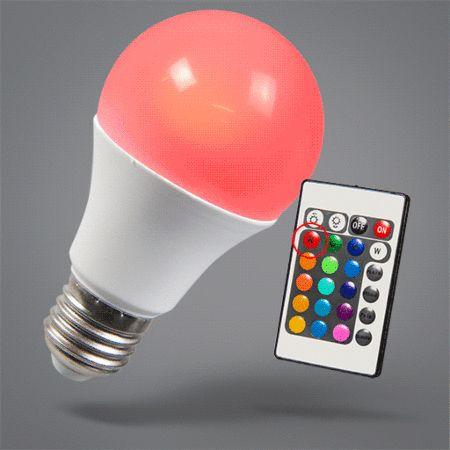 LED Leuchtmittel RGB E27 10W + Extra Warmweiß: #ledleuchtmittel #lampe # Farbwechsel