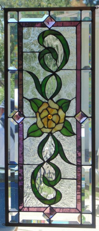 Stained Glass Window Hanging by StevesArtGlass on Etsy                                                                                                                                                                                 More
