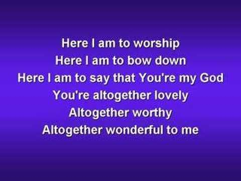 ▶ Here I am to Worship (worship video w/ lyrics) - YouTube