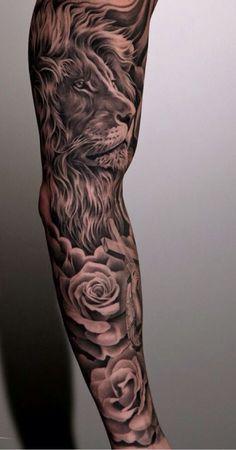 desenho leao tattoo (tatto braço) masculina