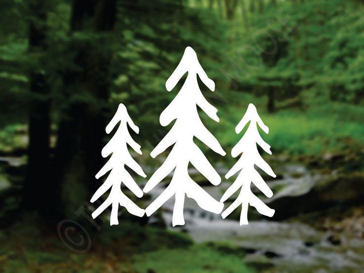 Decal Three Pine Trees Auto Window Decal Car Vinyl