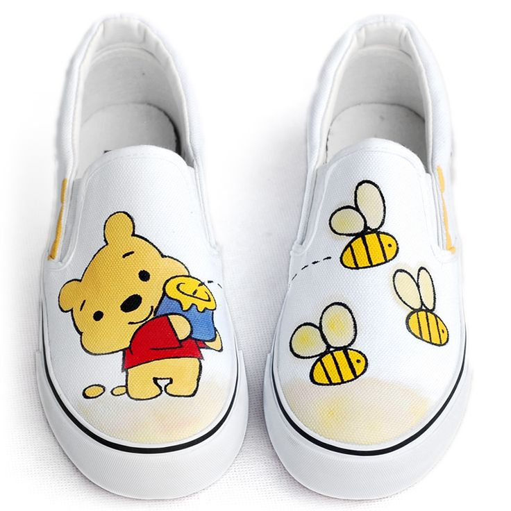 2013 children shoes bear hand-painted shoes graffiti shoes flat foot wrapping shoes lazy pedal $920,58