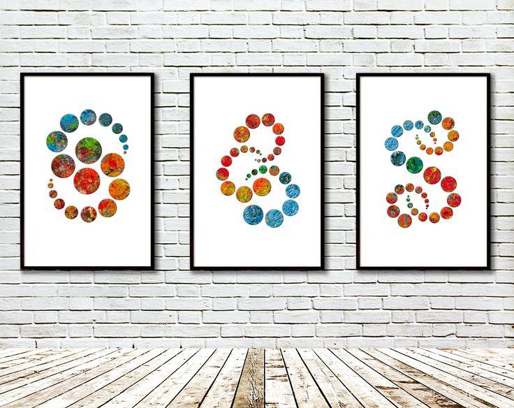 Set of 3 picture, Colour Circles, Printable, Modern art, Art print, Artist palette, Modern Geometric Wall Decor, Digital, Contemporary Art by GecleeArtStudio on Etsy