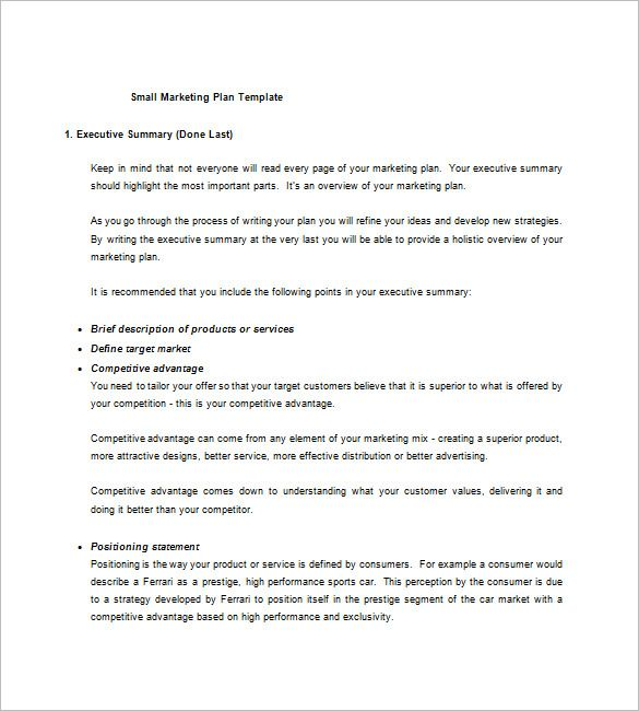 Market Plan  Marketing Plan Template    Marketing Plan