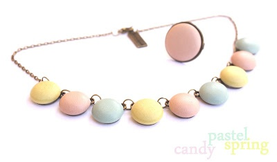 pastel row of buttons
