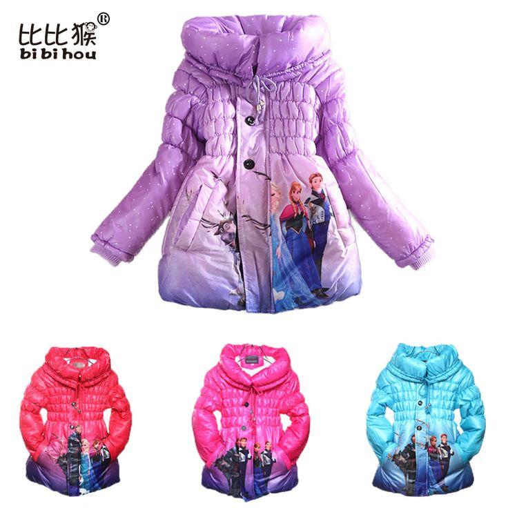 Christmas Winter Jacket For Girls Parka Children Coat Snow Queen Clothes Elsa Jacket Winter Hoodies toddler Down girls Jacket