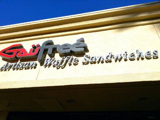Gaufree is located in the Woodbridge Town Center in Irvine
