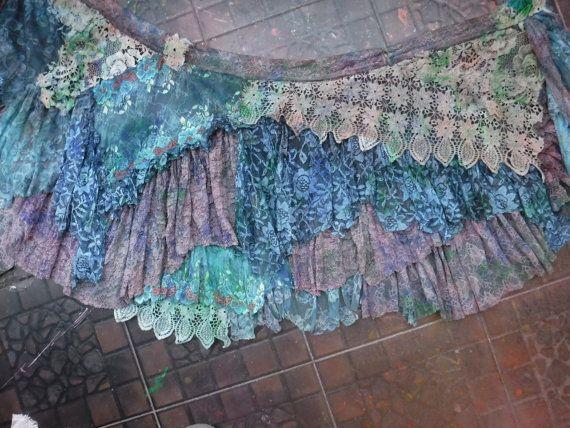 20%OFF bohemian skirttattered skirt gypsy skirt boho by wildskin