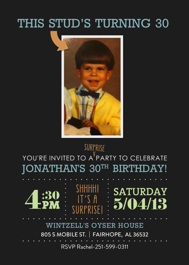 Surprise 30th birthday #surprise #30 #invitation #etsy OMG!  Now that this is on Pinterest, lets all start RSVPing and show up to this guy's surprise party!!