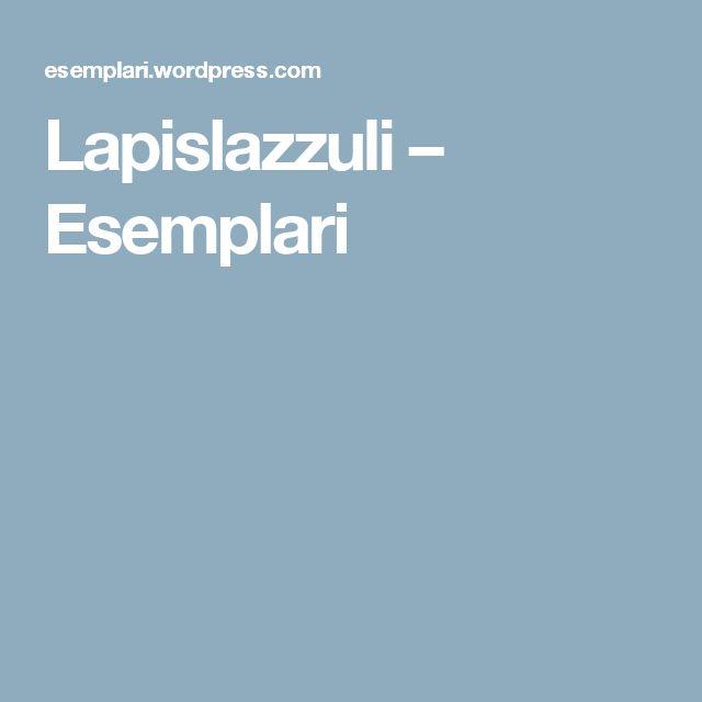 Lapislazzuli – Esemplari