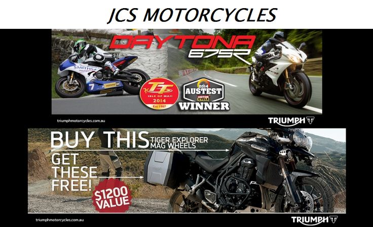 JCS Motorcycles is a perfect place to purchase genuine accessories and spare parts for Triumph motorcycle, in Perth. We also engage in sale and purchase of used as well as new Triumph motorcycles, at the best price in town.