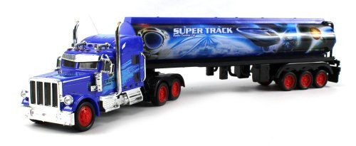 Heavy Duty Diesel 12 Wheel Semi Electric RC Truck Full Cargo Trailer 1:36 Scale RTR Ready To Run, Rechargeable