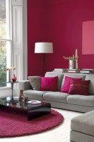 Beautiful maroon living room walls ideas 03