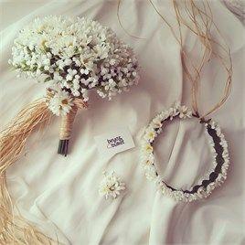 SEPETİM | Beyaz Buket | Gelin Buketi (Çiçeği) ve Düğün Aksesuarları