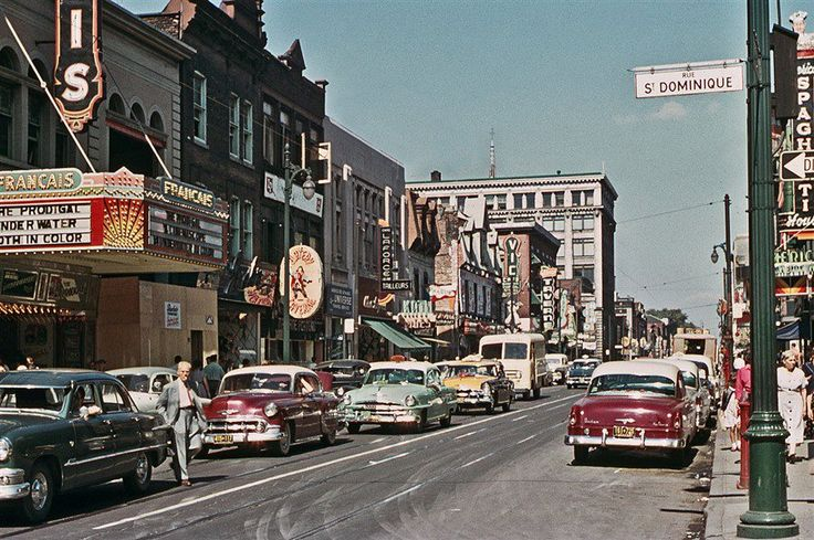 St-Catherine Street, corner St-Dominique, 1955
