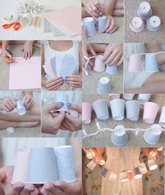 Diy light cups