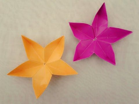 Simple origami flower Cherry Blossom - How to make origami flowers very COOL! - YouTube