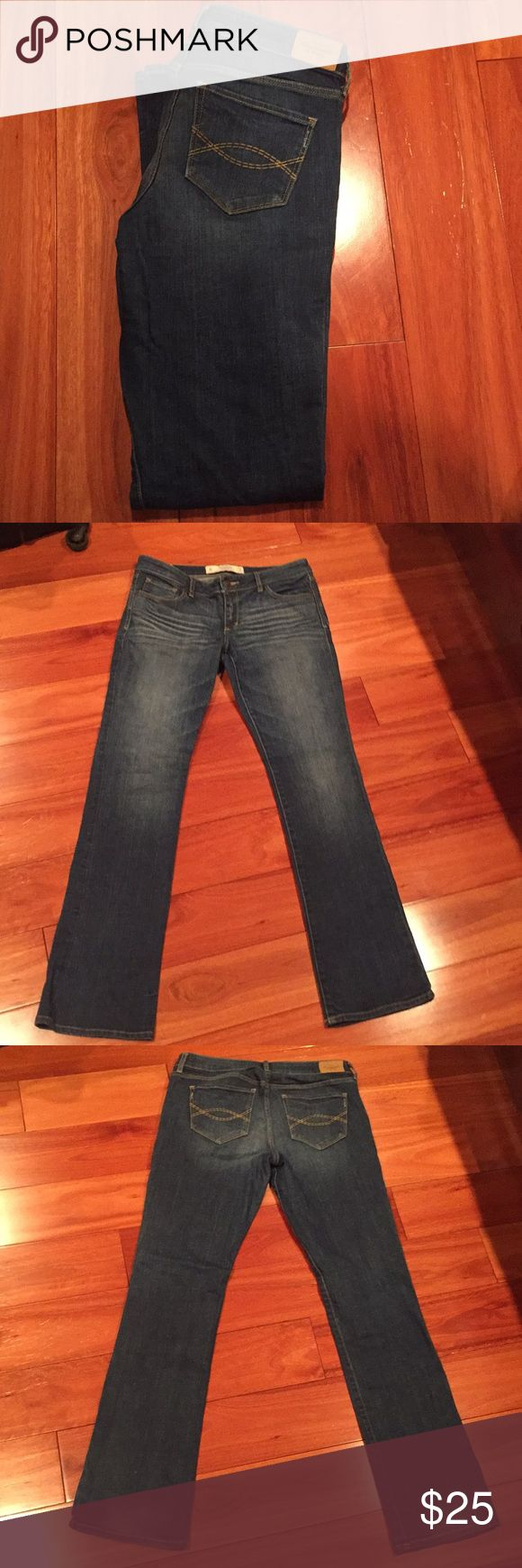 LIKE NEW! Abercrombie and Fitch Jeans Like new!! - worn only once!!  Abercrombie and Fitch bootcut jeans   Size: 8 Regular Waist: 29 Length: 33 Abercrombie & Fitch Jeans Boot Cut