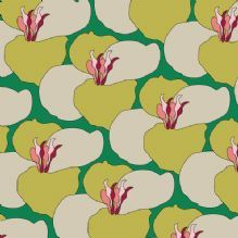 Wallpaper by Scottish designer Morag Macpherson. Rape Blossom, Green http://www.eclectdesign.com/morag-macpherson-wallpaper---rape-blossom-green-3032-p.asp