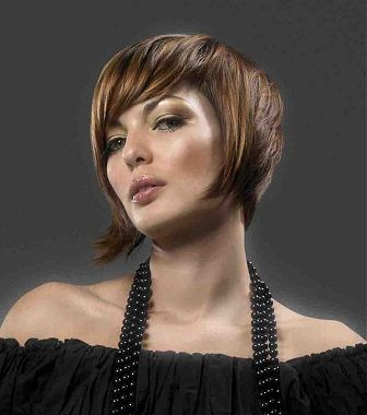 A short brown straight hairstyle by Webster Whiteman
