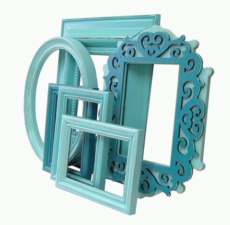 aqua home decor shabby chic picture frames turquoise aqua picture frame set home decor