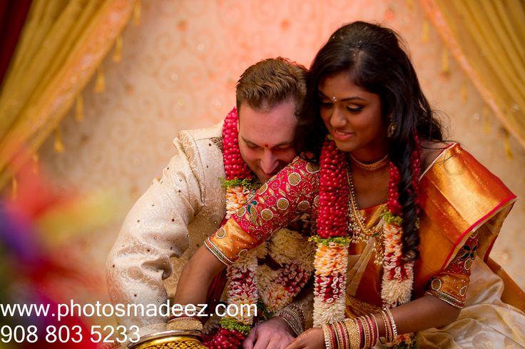 South Indian Wedding Ceremony at Mahwah Sheraton - Mixed Wedding, Interfaith Wedding . Best Wedding Photographer PhotosMadeEz, Award winning photographer Mou Mukherjee. #GDfallsinlove - South Indian Bride, American Groom