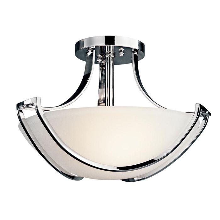 Louie lighting kichler lighting 42651ch semi flush 3 light chrome 198 00 http