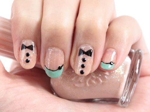 Chanel-inspired pastel nail art tutorial.