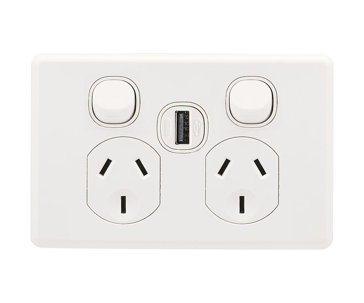 USB Wall Charger - Clipsal by Schneider Electric