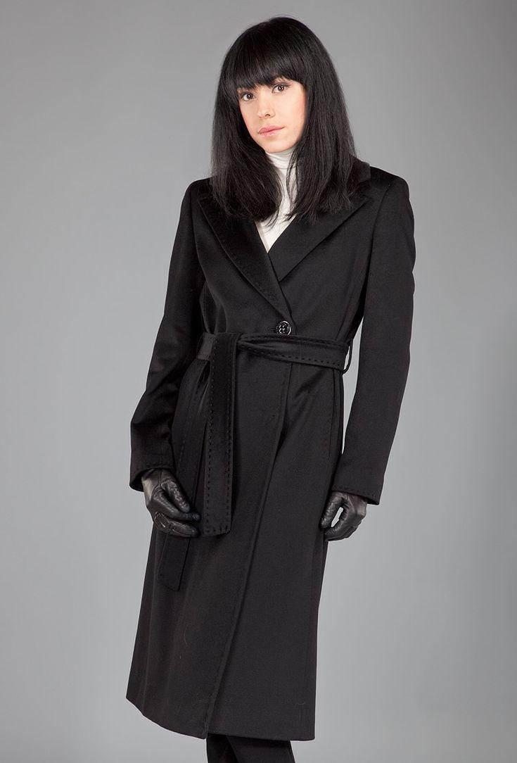 Классическое черное пальто Teresa Tardia