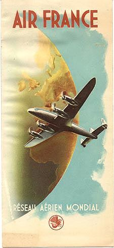 Air France 1947.  It appears they could fly much higher than 36,000 feet back in…