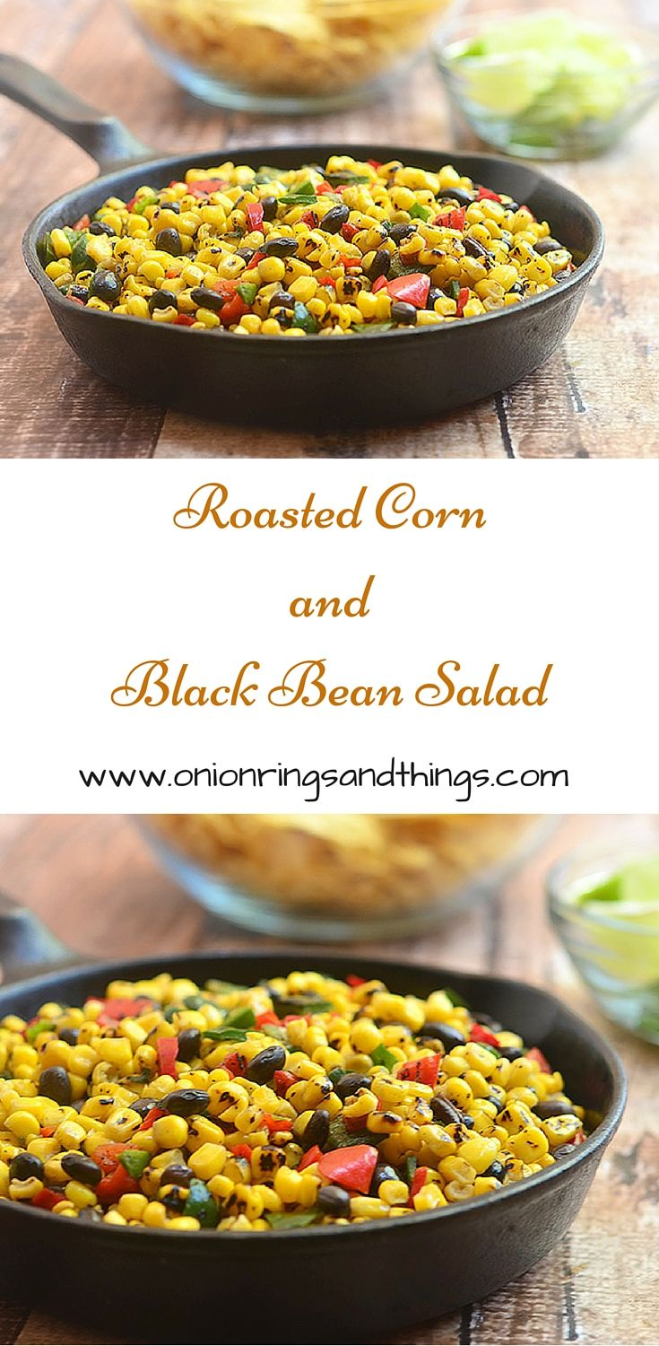 Enjoy the smoky goodness of roasted corn, black beans and peppers in a tangy lime dressing! Not just for chips!