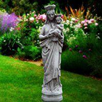 Grande Maria Madonna e bambino–Decorazione da giardino in pietra religioso scultura/statua/