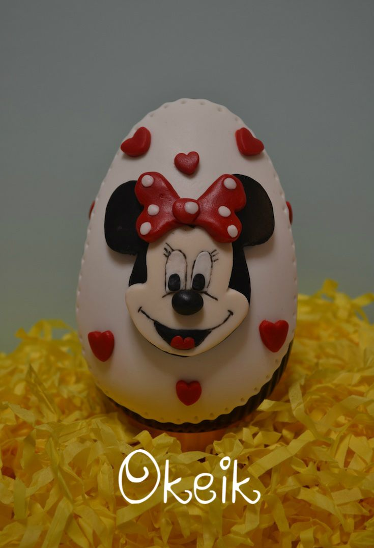 Minnie mouse chocolate easter egg
