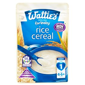 Baby Food: Wattie's Baby Rice Cereal | Forbaby.co.nz