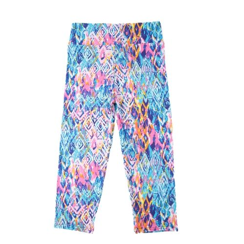 New Fashion Women Capri Leggings High Waist Floral Printing Cropped Yoga Pants Fitness Workout Casual Trousers