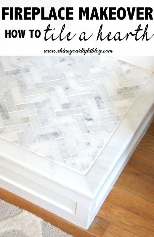 How to tile over a raised brick hearth   Shine Your Light