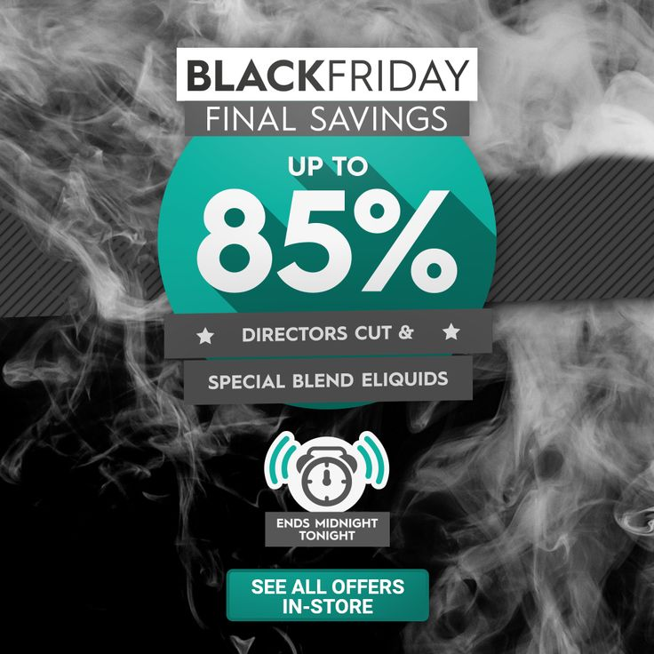 We're extending our #BlackFriday sale to midnight tonight - up to 85% off Directors Cut & other #eliquids http://www.vapemate.co.uk/