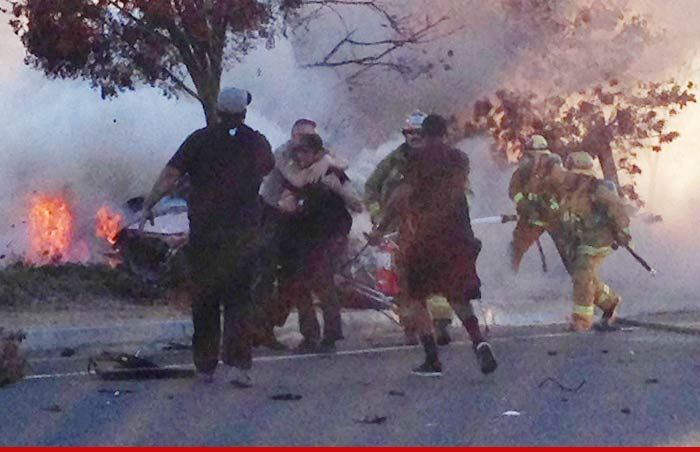 Paul Walker Crash -- Cops Wrestled Friend Away from Burning Car [Photos]