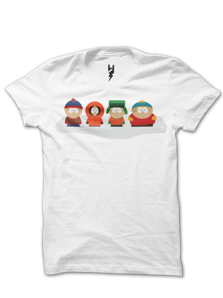 South Park from XTEAS  Follows the misadventures of four irreverent grade-schoolers in the quiet, dysfunctional town of South Park, Colorado. South Park TV Show Inspired Tee Series  Printed on 100% Organic Cotton, XTEAS Premium T-Shirt.