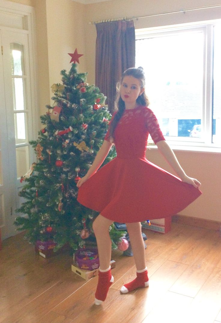 One of my favourite ever dresses my red Christmas dress - I'm looking to have red dress every Christmas!