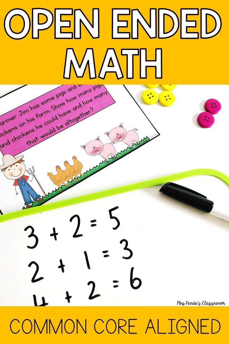 Check Out These Open Ended Maths Problems For Kindergarten These Math Questions Are Bo Math Questions Word Problems Kindergarten Common Core Math Kindergarten [ 1102 x 735 Pixel ]