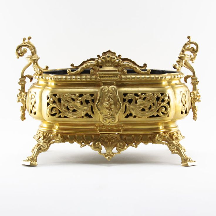 Antique Gilt Bronze Jardiniere | Kodner Auctions
