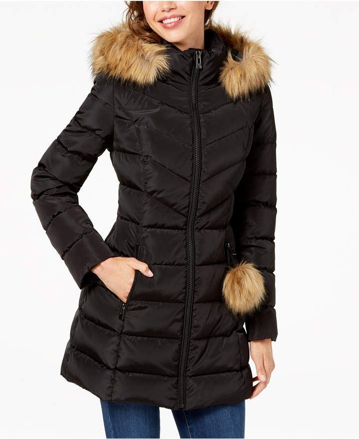 Inc International Concepts I N C Faux Fur Trim Quilted Puffer Coat Created For Macy S Puffer Coat Coats For Women Style Inspiration Casual