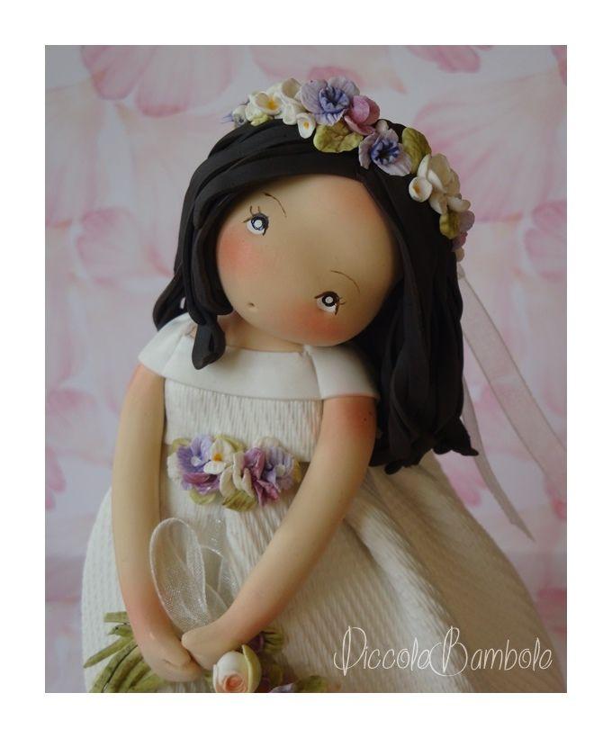 PiccoleBambole :Wedding - small dolls- cold porcelain- pasta di mais-creative