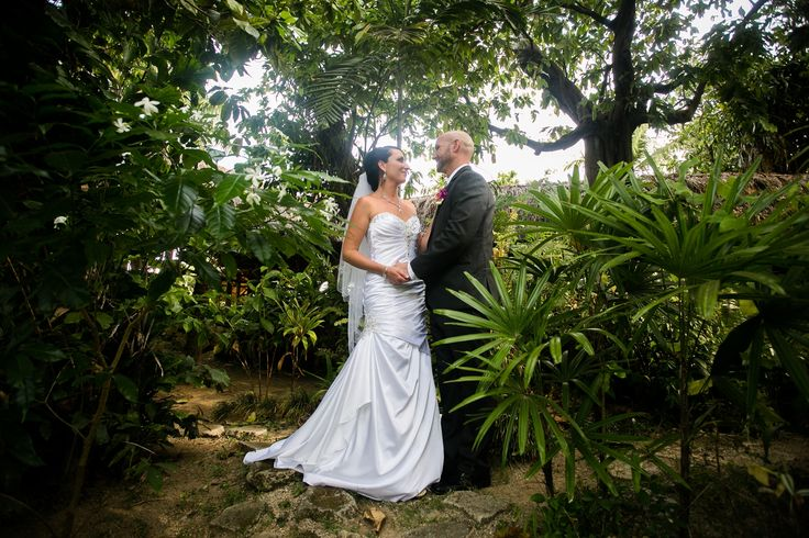 Outrigger Fiji Beach Resort Wedding Ideas Planning Inspiration Tropical Paradise Style Floral Design Planning Photography Garden Couple Bride Groom Fern Nature Outdoors White Dress Suit Love Shots Gown Magical