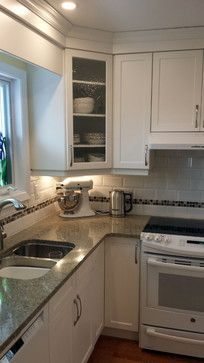 Small L Shaped Enclosed Kitchen Design Ideas Remodels Photos With No Island