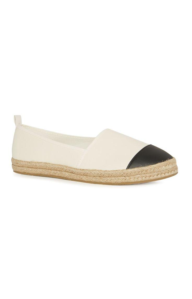Black White Flat Shoes